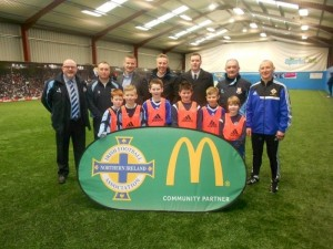 Ian Paisley MP visited the co-hosted McDonalds and Irish FA training event on Saturday