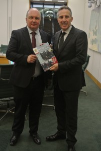 Ian Paisley MP meeting with Mark Lindsay of the Police Federation for Northern Ireland in Westminster yesterday